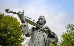 沃尔夫冈・阿马德乌・莫扎特雕象 免版税库存图片
