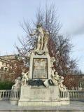 沃尔夫冈・阿马德乌・莫扎特,维也纳,奥地利雕象  库存图片