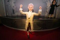 沃尔夫冈・阿马德乌・莫扎特在蜡象的Grevin博物馆在布拉格 免版税库存照片