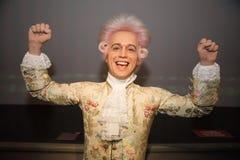 沃尔夫冈・阿马德乌・莫扎特在蜡象的Grevin博物馆在布拉格 免版税图库摄影