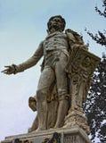 沃尔夫冈・阿马德乌・莫扎特雕象在维也纳,奥地利 免版税库存照片