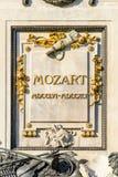 沃尔夫冈・阿马德乌・莫扎特雕象在维也纳 免版税库存照片