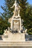 沃尔夫冈・阿马德乌・莫扎特雕象在维也纳 库存照片
