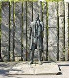 沃尔夫口气雕象,都伯林 免版税库存图片