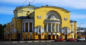 沃尔科夫剧院在雅罗斯拉夫尔市,俄罗斯 库存图片
