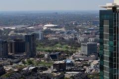 沃思堡都市风景 免版税库存照片