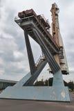 沃斯托克在VDNH的太空火箭 莫斯科 俄国 库存图片
