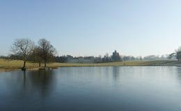 沃本庄园,英国在冬天 免版税库存照片