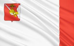沃洛格达州地区,俄罗斯联邦旗子  向量例证
