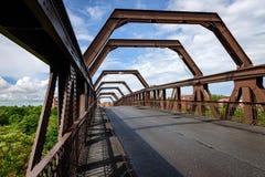 沃灵顿运输者桥梁-英国 库存照片