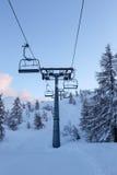沃热尔在山朱利安阿尔卑斯山的滑雪中心 库存照片