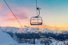 沃热尔的滑雪中心 库存照片