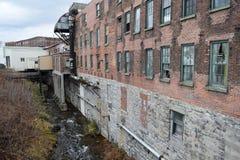 沃特敦, NY老工业 免版税库存照片