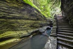 沃特金斯幽谷国家公园,纽约 免版税库存图片