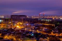 沃罗涅日从屋顶的都市风景视图 沃罗涅日郊外  免版税图库摄影
