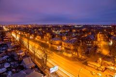 沃罗涅日从屋顶的都市风景视图 沃罗涅日郊外  免版税库存照片