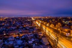 沃罗涅日从屋顶的都市风景视图 沃罗涅日郊外  免版税库存图片