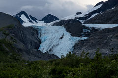 沃辛顿冰川 库存图片