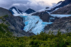沃辛顿冰川 免版税库存照片
