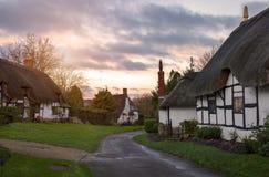 沃里克郡村庄,英国 免版税库存照片