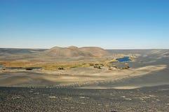沃镇Al Namus火山,利比亚 库存图片