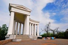 沃龙佐夫宫殿的柱廊在傲德萨,乌克兰 免版税库存照片