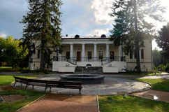 沃龙佐夫房子在公园Salgirka 免版税库存照片