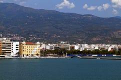 沃洛斯市在希腊 免版税库存图片
