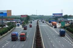 从沈阳的高速公路向北京 库存图片