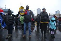 沈默抗议在布加勒斯特 免版税图库摄影