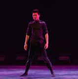 沈默人现代舞蹈 库存照片
