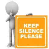 沈默区域 免版税库存照片