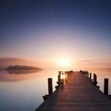 沈默在湖 库存照片