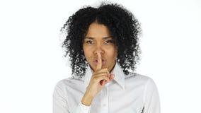 沈默姿态由黑人妇女的 影视素材