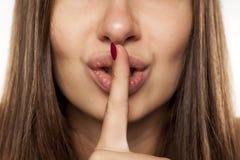 沈默姿态 免版税库存图片