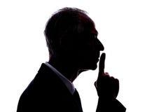 沈默概念 免版税库存图片