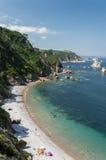 沈默海滩,西班牙 库存图片