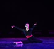 沈默现代舞蹈 图库摄影