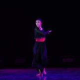 沈默现代舞蹈 库存照片