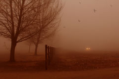 沈默雾。 免版税库存照片