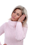 沉思中年的妇女 免版税图库摄影