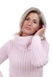 沉思中年的妇女 免版税库存图片