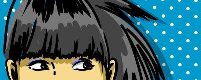 减速火箭的女孩眼睛 免版税库存图片