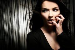 沉思妇女 免版税图库摄影