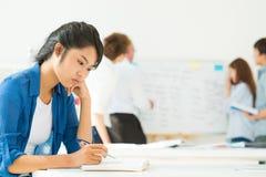 沉思学生 免版税图库摄影