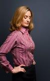 沉思的妇女 免版税库存照片