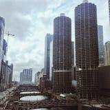 阴沉的芝加哥 免版税库存图片