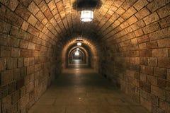 阴沉的隧道 免版税库存图片