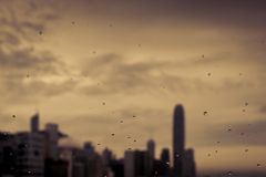 阴沉的香港 库存图片