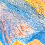 """沉积â€的储积形成的五颜六色的水成岩""""自然岩石层数背景、样式和纹理- 图库摄影"""